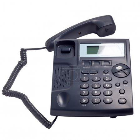 modern blue business phone isolated