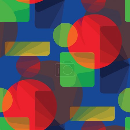 Abstract green, blue, red pattern background seamless illustrati