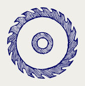 Circular saw blade Doodle style