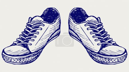 Illustration for Sports shoes. Doodle style - Royalty Free Image