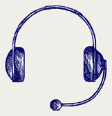 Headphones Doodle style