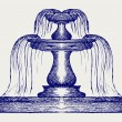 Fountain. Doodle style...