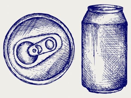 Illustration for Beer can. Doodle style - Royalty Free Image