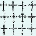 Religious cross design collection. Vector EPS 8...