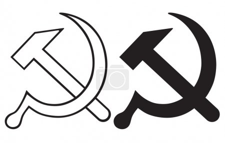 Sign of the hammer and sickle...