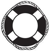 Symbol lifebuoy isolated on white