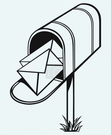 Open Mailbox with letters