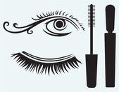 Ink for eyelashes and eye