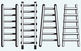 Ladder against the wall