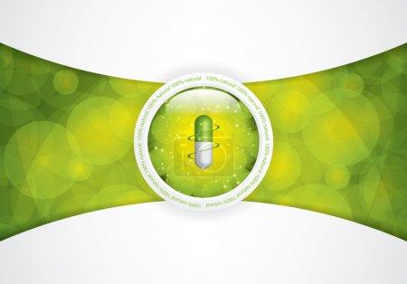Illustration for Green alternative medication concept - vector illustration - Royalty Free Image