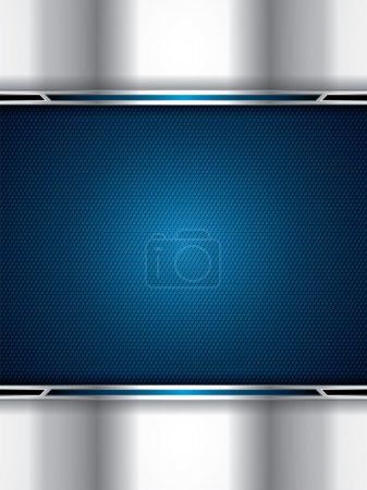 Illustration for Abstract background, metallic blue brochure, vector - Royalty Free Image