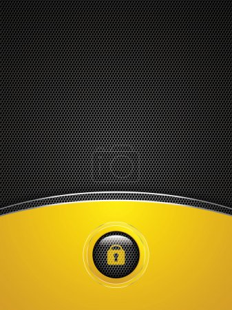 Illustration for Abstract golden background - user interface unlock vector - Royalty Free Image