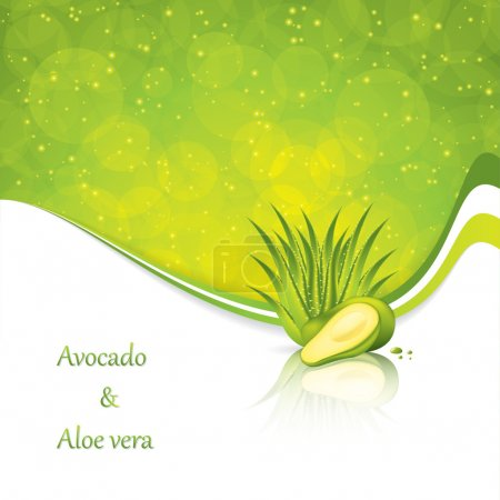 Illustration for Avocado and Aloe Vera concept design vector - Royalty Free Image