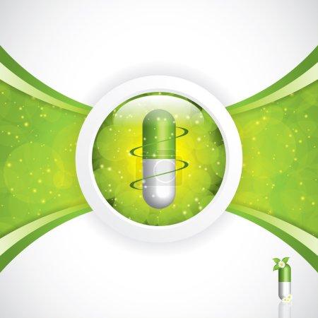 Illustration for Alternative medication concept - herbal pill vector - Royalty Free Image