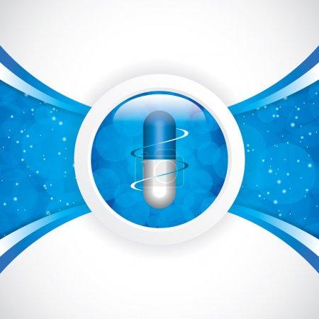 Illustration pour Concept bleu de médicaments alternatifs - illustration vectorielle - image libre de droit