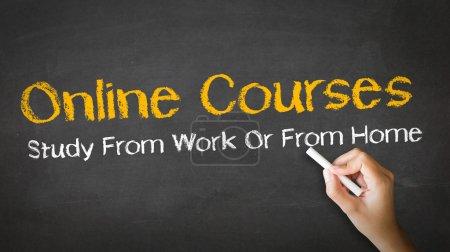 Online Courses Chalk Illustration