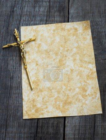 Paper With Crucifix