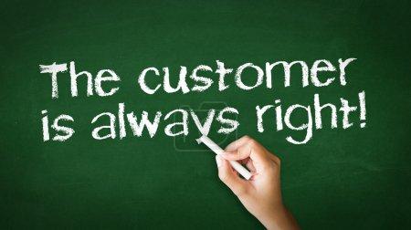 The customer is always right Chalk Illustration