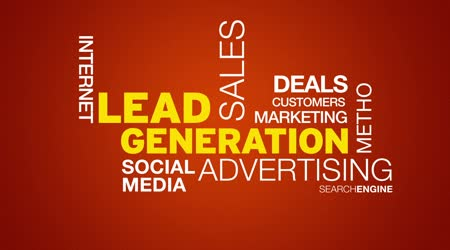 Lead Generation-Wort-Wolke-animation