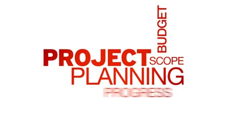 Project Planning Word Cloud Animation