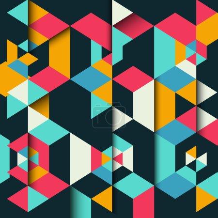 Photo pour Fond géométrique abstrait avec un effet 3D - image libre de droit