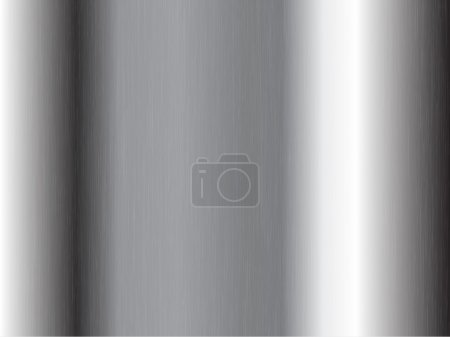 Photo for Abstract background with a silver brushed metal effect - Royalty Free Image