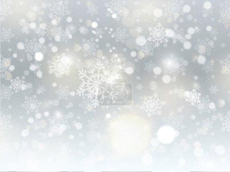 Foto de Fondo de Navidad de los copos de nieve y las estrellas - Imagen libre de derechos