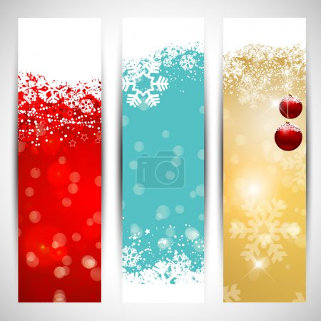 Photo for Collection of three decorative Christmas banners - Royalty Free Image