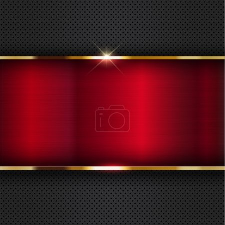 Photo for Abstract background with a futuristic metallic design - Royalty Free Image