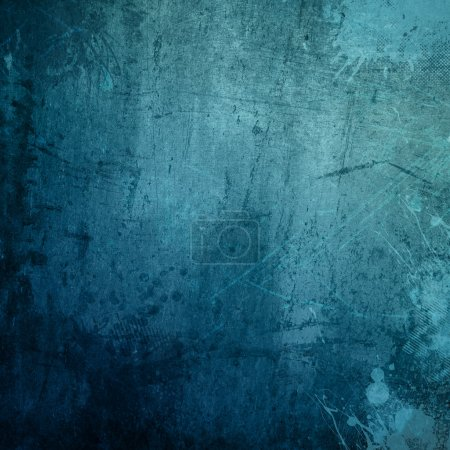 Photo for Detailed blue grunge background with splats and stains - Royalty Free Image