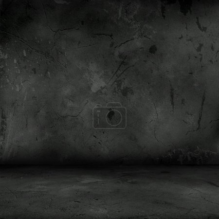 Photo for Dark interior with grunge concrete walls and floor - Royalty Free Image