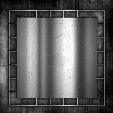 Grunge en métal et fond de béton