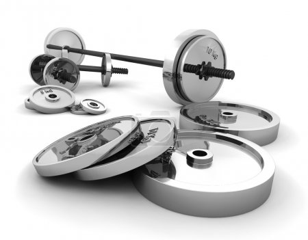 Photo for 3D render of weights - Royalty Free Image