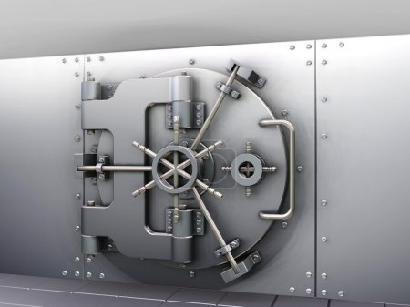 Photo for 3D render of a bank vault - Royalty Free Image