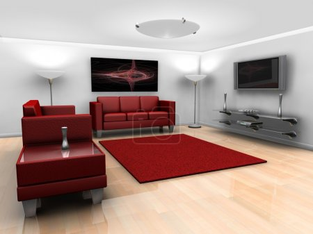 Contemporary styled minimalistic lounge