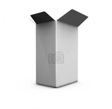 Photo for 3D render of an open blank box - Royalty Free Image