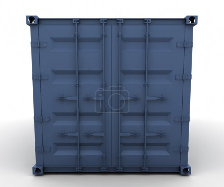 Photo for 3D render of a freight container - Royalty Free Image