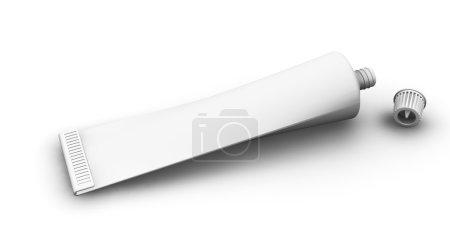 Photo pour Rendu 3D d'un tube vide - image libre de droit