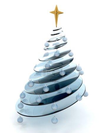 Foto de Render 3D de un árbol de Navidad abstracta conceptual - Imagen libre de derechos