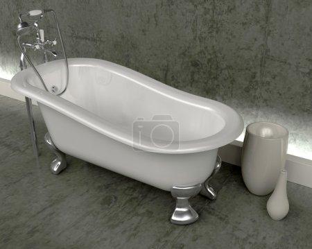 Classic roll top bath