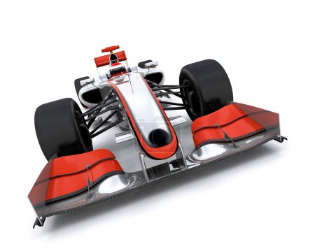 3d render of a formula one car