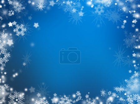 Photo for Background of many snowflakes and stars - Royalty Free Image