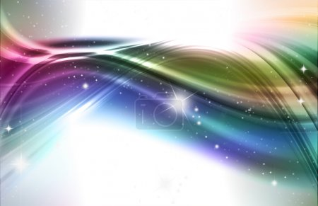 Photo for Abstract design background in rainbow colours and stars - Royalty Free Image