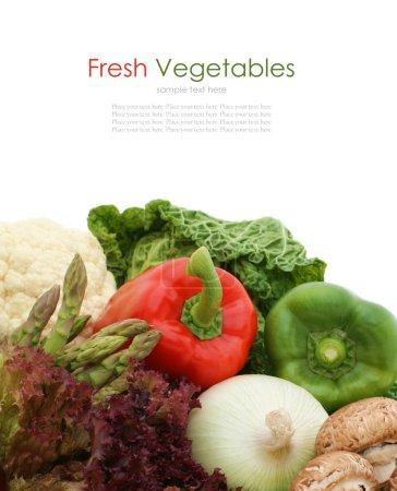 Photo pour Collecte de légumes frais sains - image libre de droit