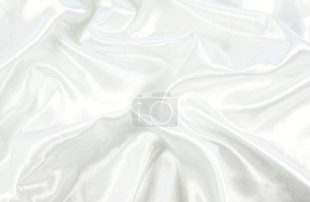 Photo pour Texture fond de satin blanc - image libre de droit