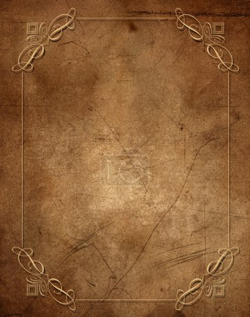 Photo for Vintage grunge background with a decorative border - Royalty Free Image