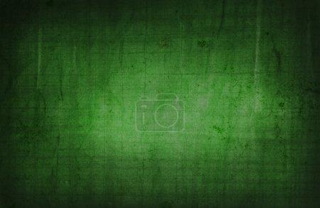 Foto de Fondo de color verde con un efecto grunge - Imagen libre de derechos