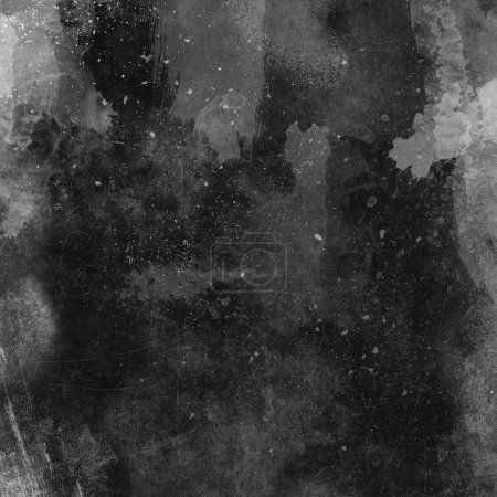 Photo for Detailed dark grunge background with scratches and stains - Royalty Free Image