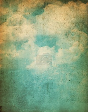 Photo for Vintage background with a grunge cloud design - Royalty Free Image