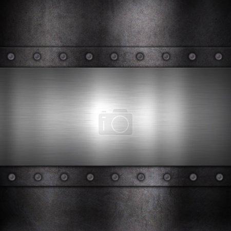 Photo pour Fond style grunge avec une texture métal - image libre de droit